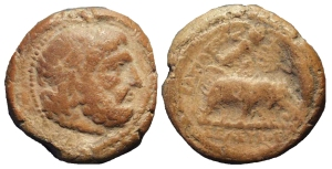 "Terracotta ""token"" from Seleucia on the Tigris (ANS 1944.100.44991)"