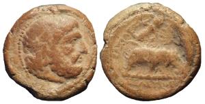 "Terracotta ""token"" from Seleucia on the Tigris (ANS 1944.100.44991)"